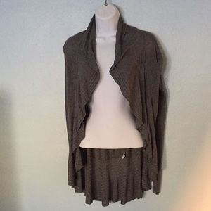 Express,  Gray, Super Soft, Cardigan, XS